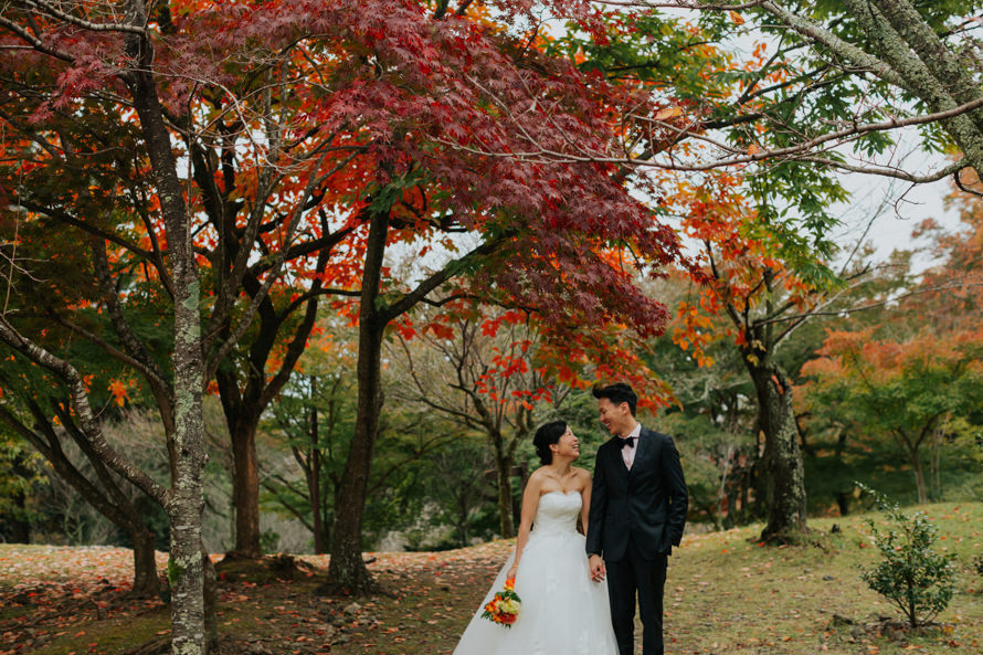 kyoto japan autumn pre wedding photography