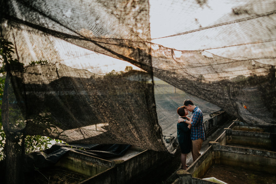 abandoned fish farm singapore pre wedding photography