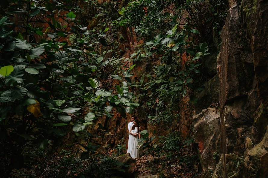 Dairy Farm Rock Cliff Singapore Prewedding Photography